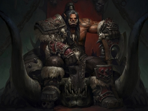 the throne, Grommash Hellscream, World of Warcraft: Warlords of Draenor, Ork