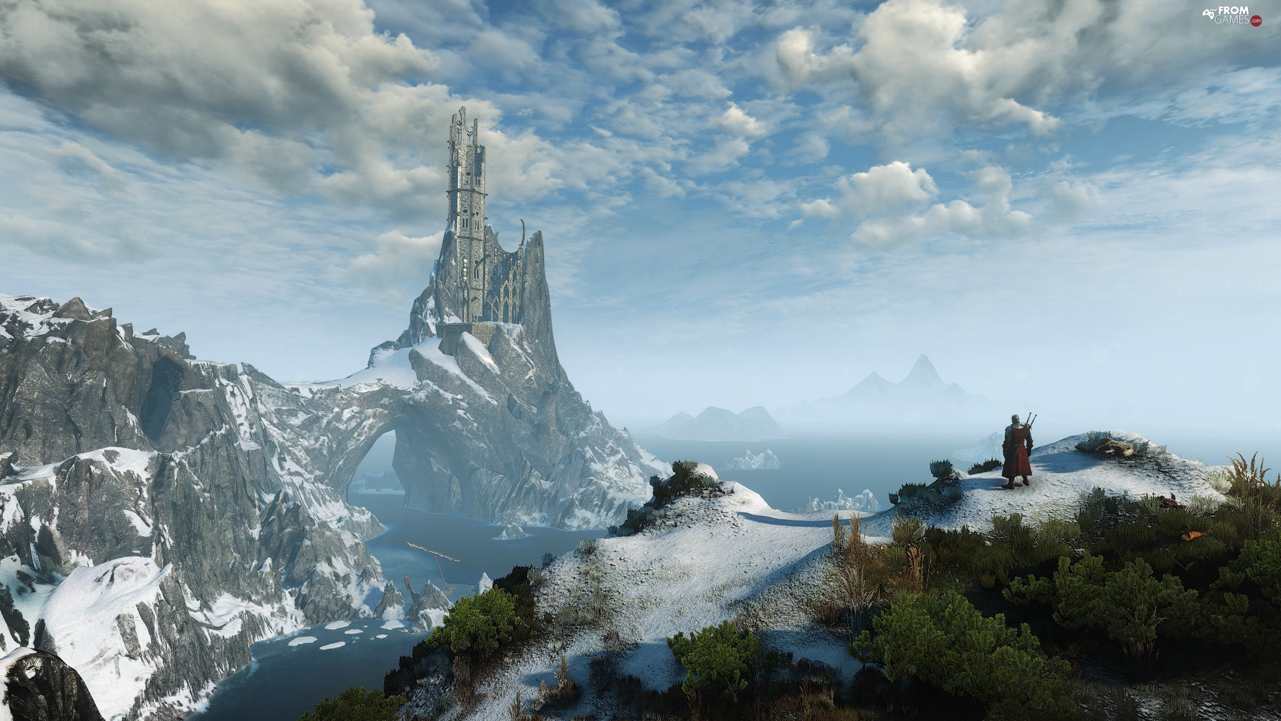 The Witcher 3 Wild Hunt, game, Mountains, Castle, Geralt, The Witcher 3 Wild Hunt