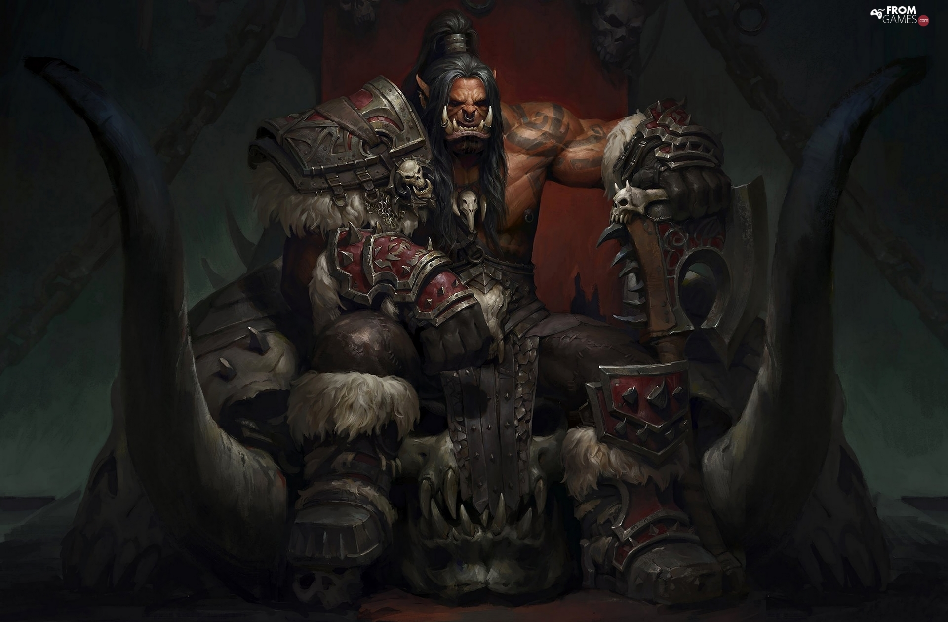 World of Warcraft: Warlords of Draenor, Grommash Hellscream, the throne, Ork