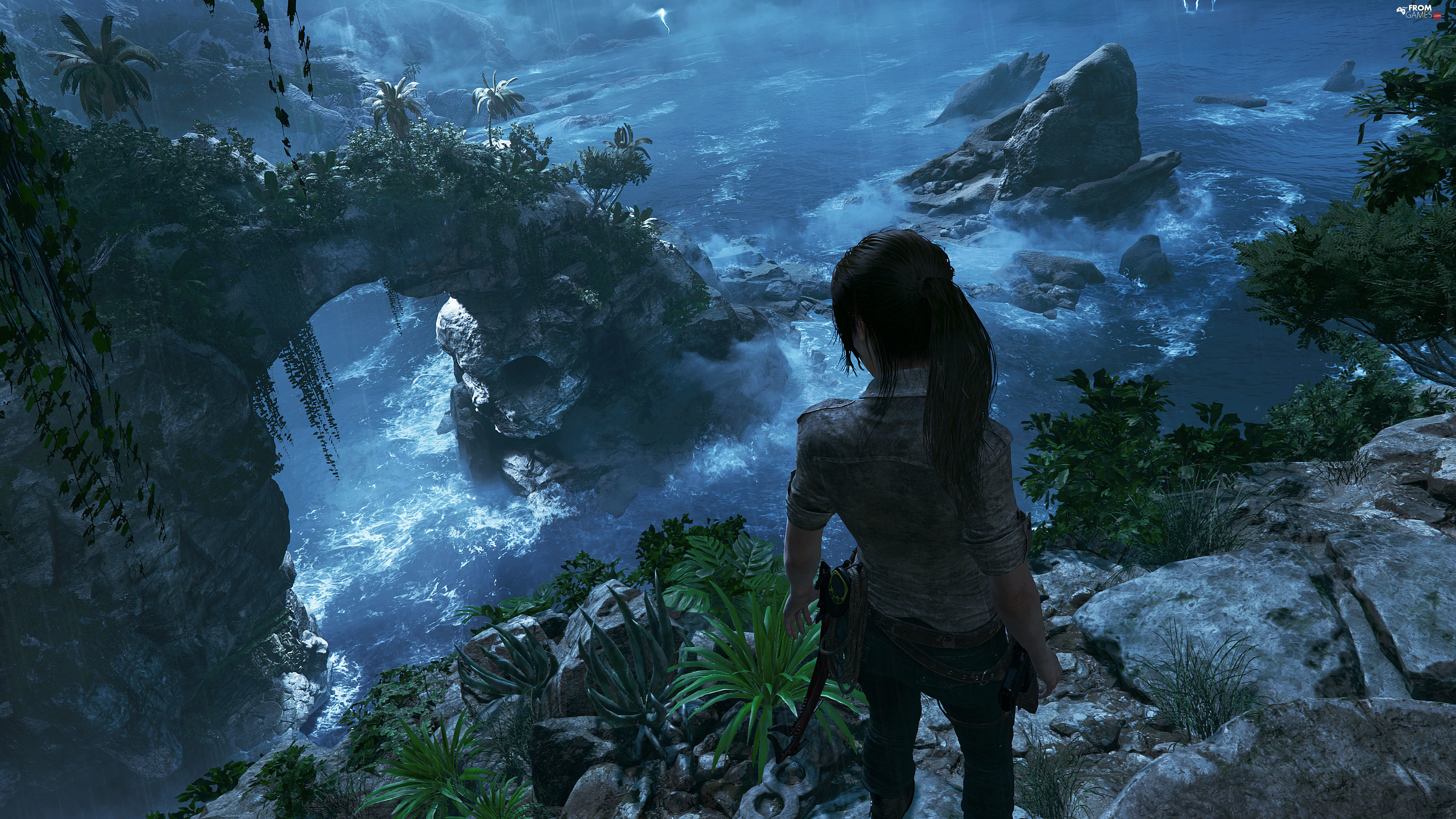 Lara Croft, rocks, Shadow of the Tomb Raider, Tomb Raider 2018, game