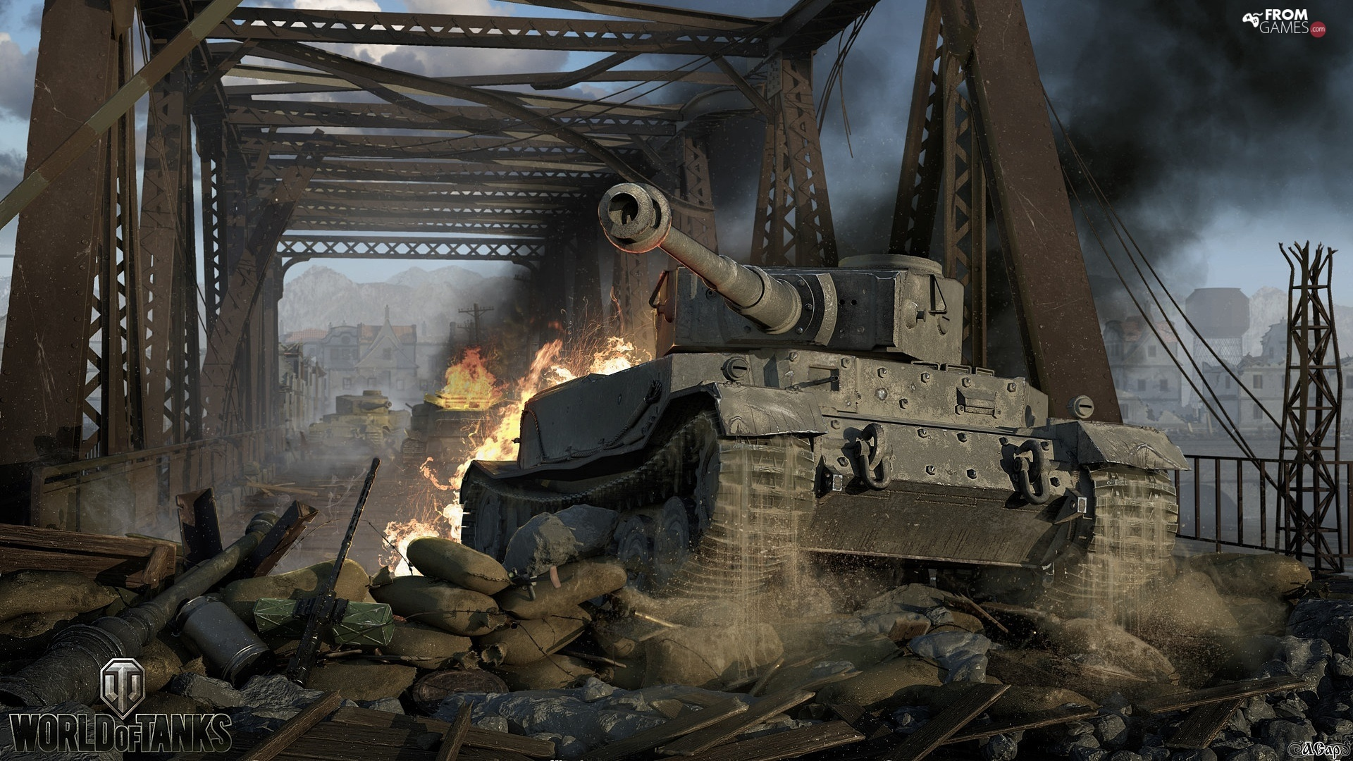 game, tank, bridge, World Of Tanks