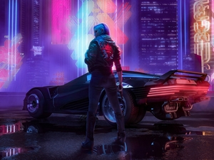Automobile, Weapons, Cyberpunk 2077, Women, game