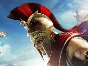 game, Alexios, helmet, Assassins Creed Odyssey