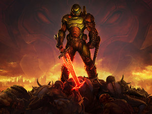 fighter, game, Doom Eternal