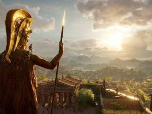 Athena, Greece, Assassins Creed Odyssey, Statue monument, game