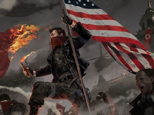 game, flag, Fight, Homefront The Revolution