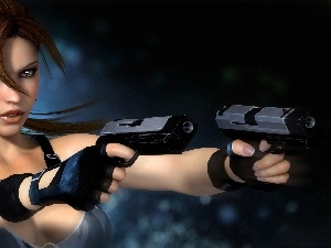 Weapons, Tomb Raider, Lara Croft
