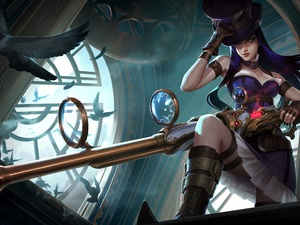form, Women, League Of Legends, Caitlyn, game