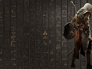 Assassins Creed: Origins, wall, Hieroglyphics, Bayek