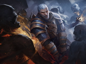 The Witcher 3 Wild Hunt, Geralt of Rivia, zombie, The Witcher 3 Wild Hunt